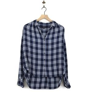 Madewell Central Long Sleeve Shirt Lansford Plaid